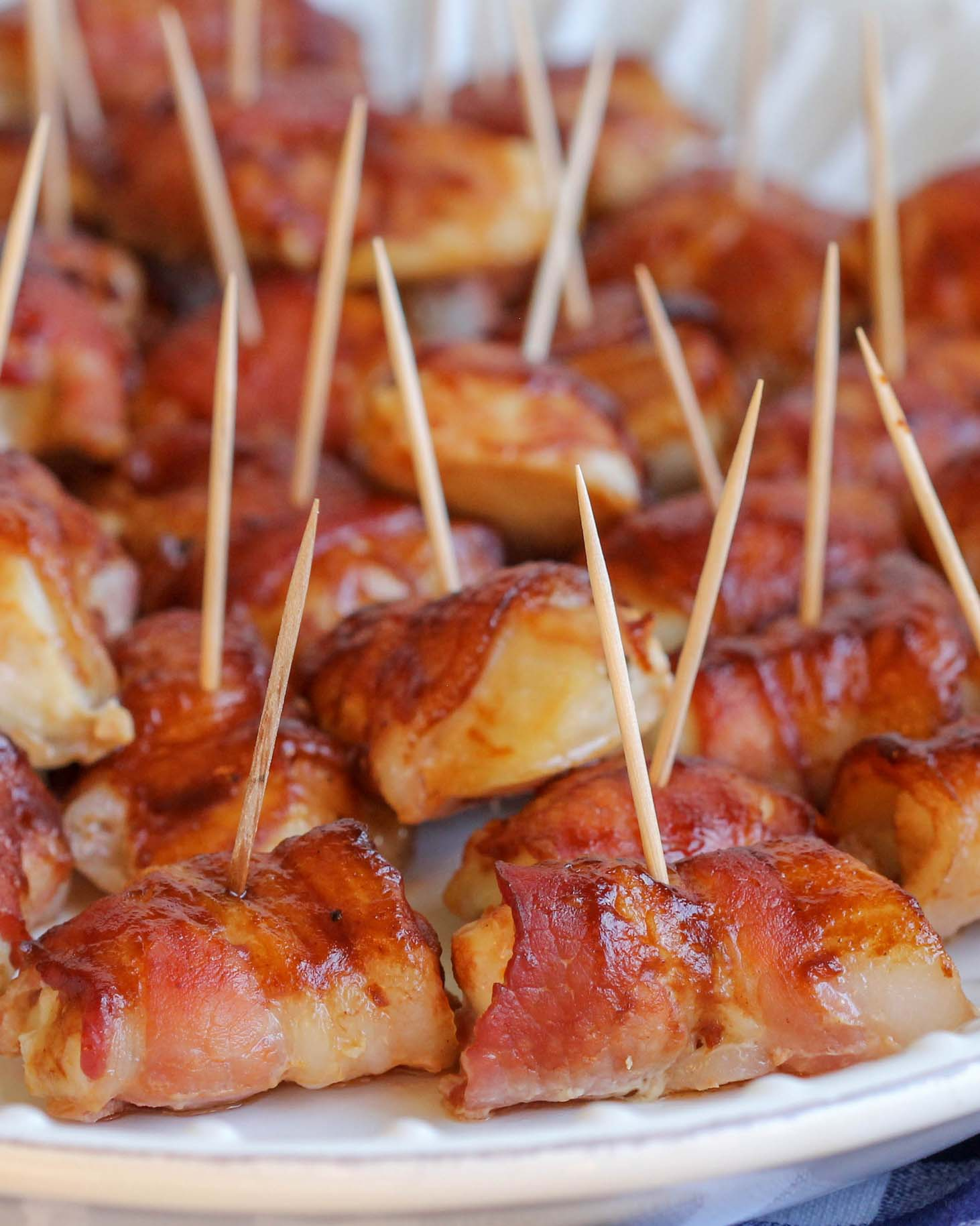 Bacon Wrapped Chicken Bites recipe